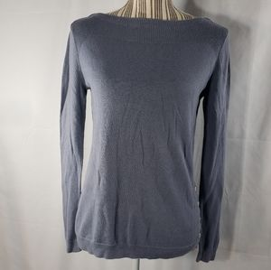 Ann Taylor Button Detail Blue Sweater Size Small